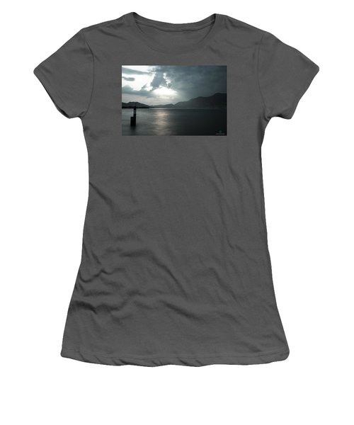 Stormy Sunset On The Lake Women's T-Shirt (Athletic Fit)
