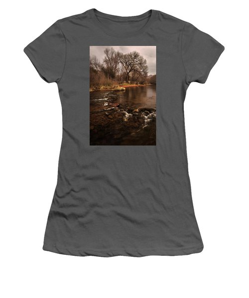 Stream And Tree Women's T-Shirt (Athletic Fit)