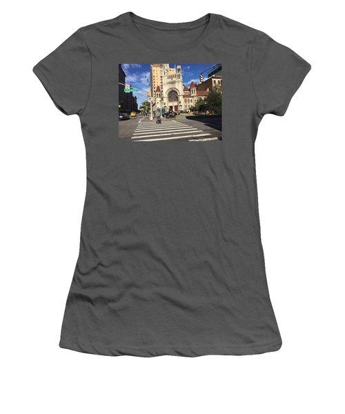 Street Crossing Women's T-Shirt (Athletic Fit)