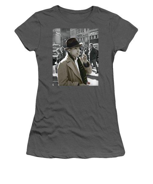 Women's T-Shirt (Junior Cut) featuring the photograph Street Smoking Man by Martin Konopacki