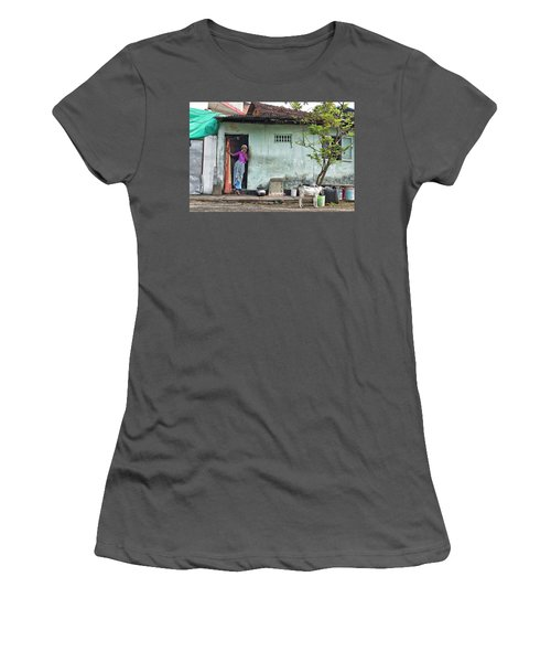 Women's T-Shirt (Junior Cut) featuring the photograph Streets Of Kochi by Marion Galt