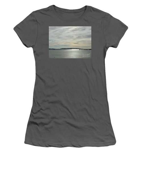 Striated Sky Over Casco Bay Women's T-Shirt (Athletic Fit)