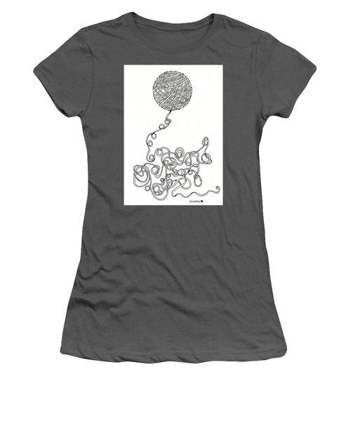 String Energy 2 Women's T-Shirt (Junior Cut) by Quwatha Valentine