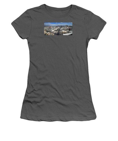 Strip And Flamingo Women's T-Shirt (Junior Cut)