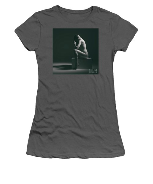 Studio Nude Seated Women's T-Shirt (Athletic Fit)