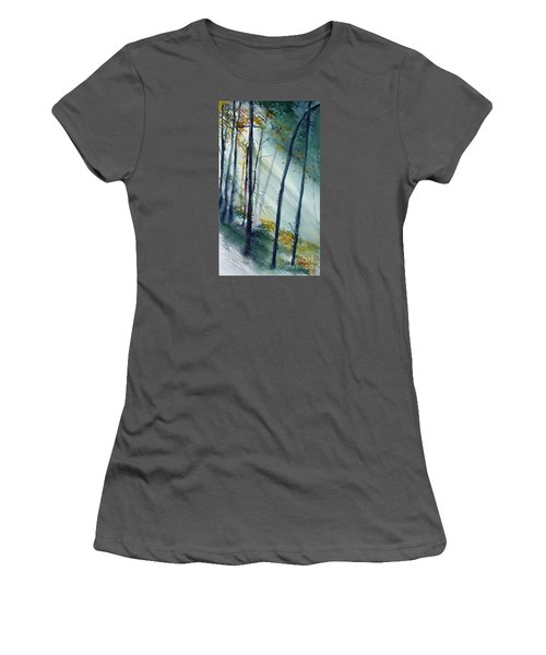 Study The Trees Women's T-Shirt (Athletic Fit)
