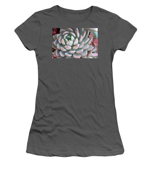Women's T-Shirt (Junior Cut) featuring the photograph Succulent Beauty by Catherine Lau