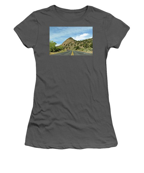 Women's T-Shirt (Junior Cut) featuring the photograph Sugarloaf Mountain In Six Mile Canyon by Benanne Stiens