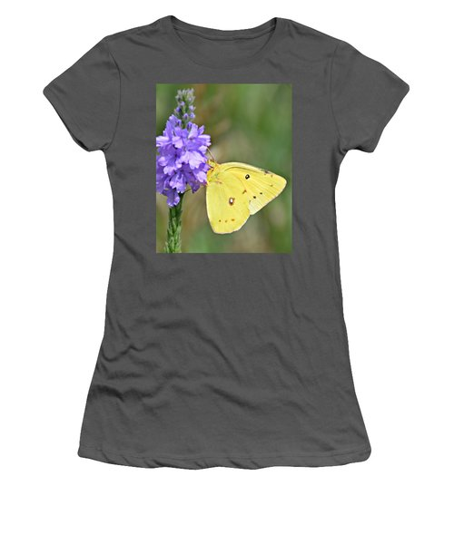 Sulfur Butterfly Women's T-Shirt (Athletic Fit)
