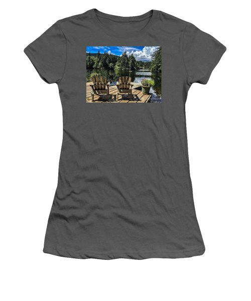 Summer By Eagle Lake Women's T-Shirt (Junior Cut) by William Wyckoff