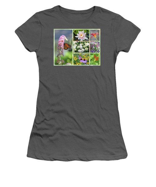 Summer Collage Women's T-Shirt (Athletic Fit)