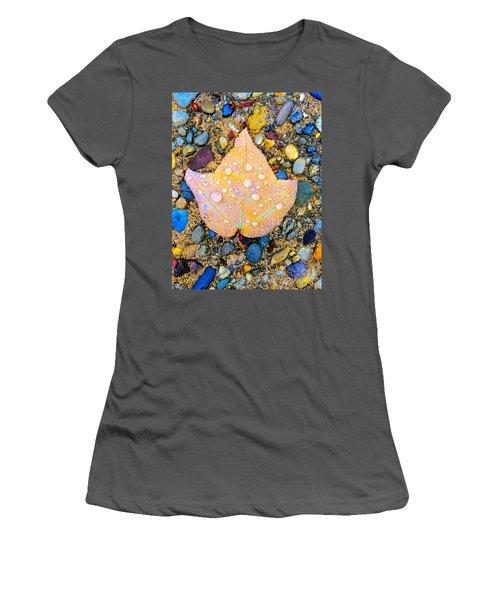 Summer Rain Leaf Women's T-Shirt (Junior Cut) by Todd Breitling