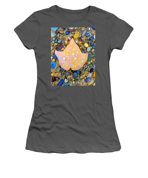 Summer Rain Leaf Women's T-Shirt (Athletic Fit)