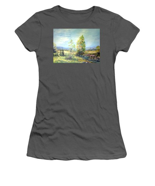Summer Time Women's T-Shirt (Junior Cut) by Dorothy Maier