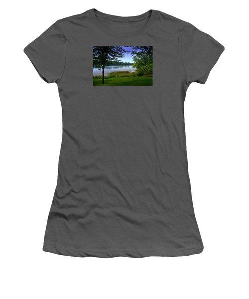 Women's T-Shirt (Junior Cut) featuring the photograph Summer's End by Judy  Johnson