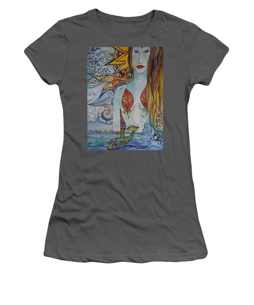 Sun And Sea Godess Women's T-Shirt (Junior Cut) by Claudia Cole Meek