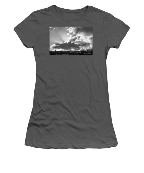Women's T-Shirt (Junior Cut) featuring the photograph Sun Beams Over Church by Nicholas Burningham