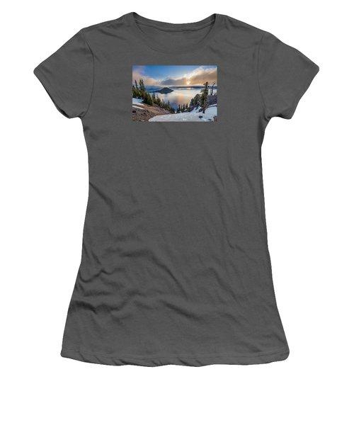 Sun Rising Through Mists Women's T-Shirt (Junior Cut) by Greg Nyquist