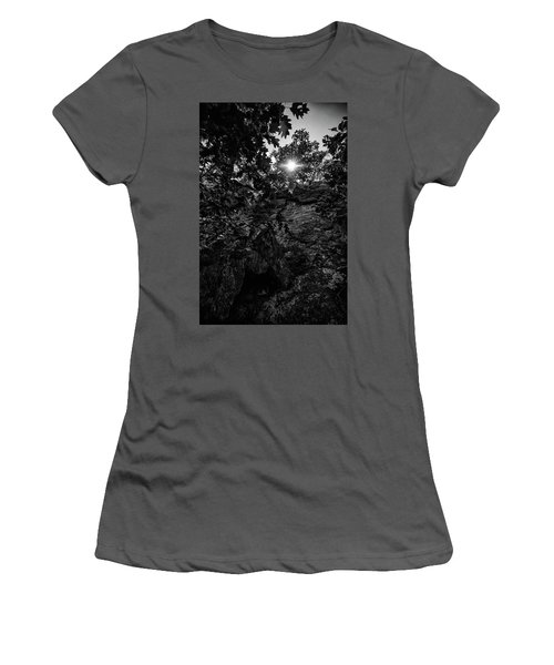 Sun Through The Trees Women's T-Shirt (Athletic Fit)