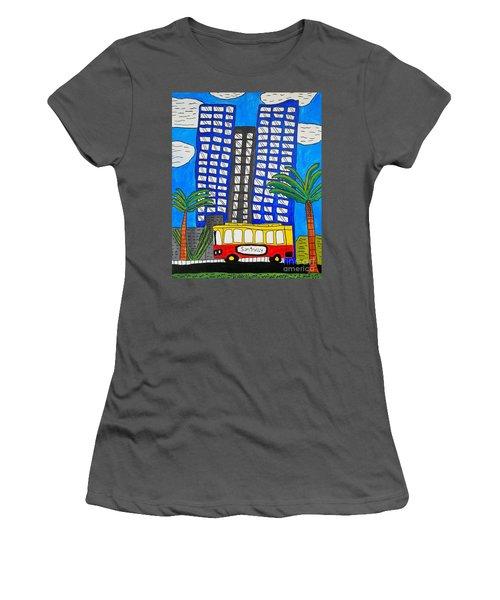Sun Trolley Women's T-Shirt (Junior Cut) by Brandon Drucker
