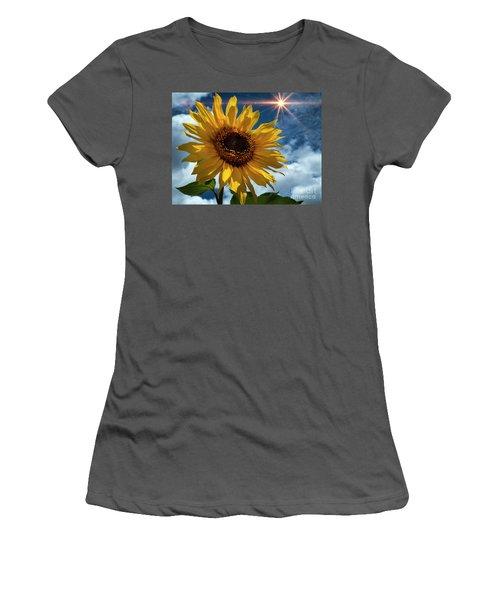 Sunflower Brilliance II Women's T-Shirt (Athletic Fit)