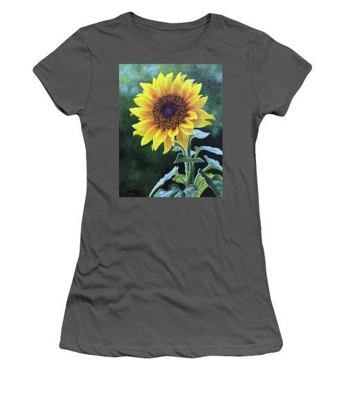 Sunflower Women's T-Shirt (Junior Cut) by Janet King