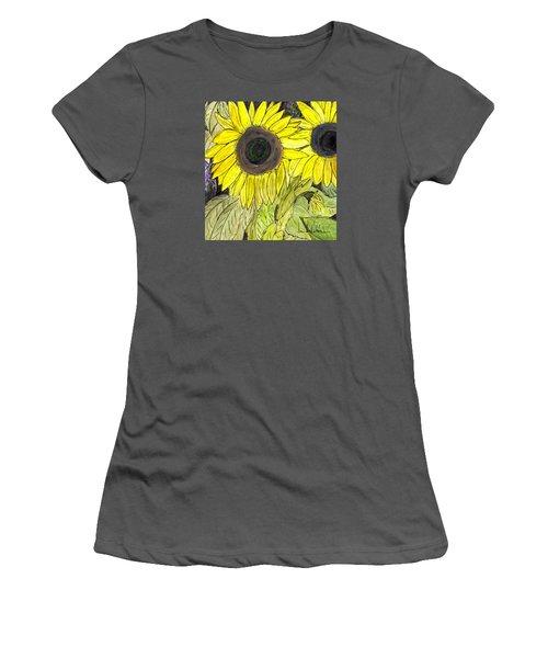 Sunflowers Women's T-Shirt (Junior Cut) by Lou Belcher
