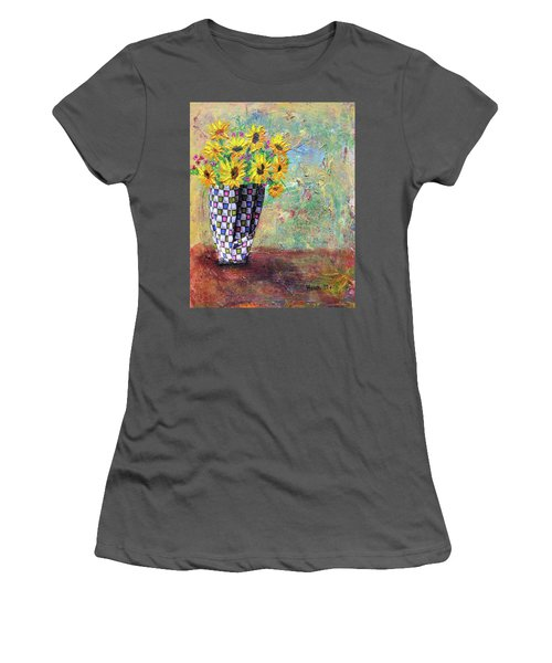 Sunflowers Warmth Women's T-Shirt (Junior Cut) by Haleh Mahbod