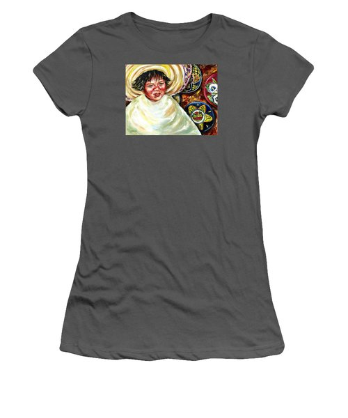 Women's T-Shirt (Junior Cut) featuring the painting Sunny Day by Hiroko Sakai