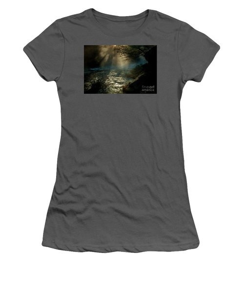 Sunrays At Fork River Women's T-Shirt (Junior Cut) by Iris Greenwell