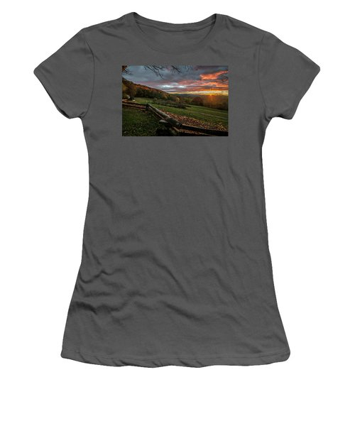 Sunrise At Cone House Women's T-Shirt (Athletic Fit)