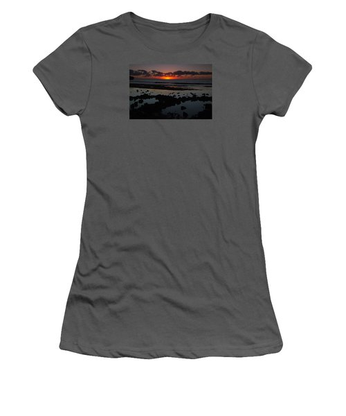 Women's T-Shirt (Junior Cut) featuring the photograph Sunrise At Shipwreck Beach by Roger Mullenhour