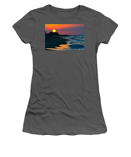 Sunrise At St. George Island Florida Women's T-Shirt (Athletic Fit)