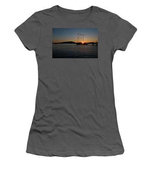 Sunrise In Bar Harbor Women's T-Shirt (Athletic Fit)