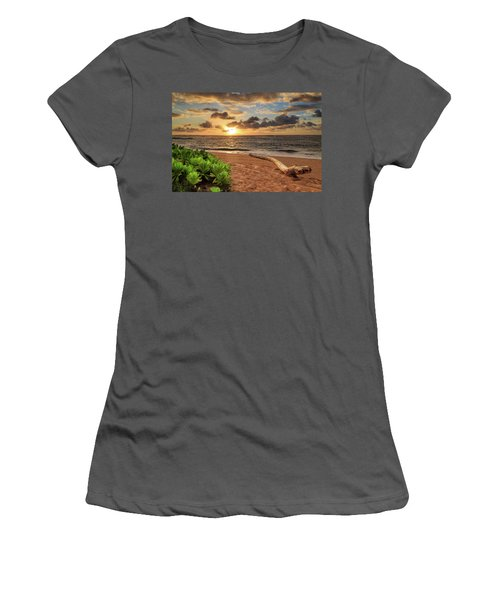 Women's T-Shirt (Athletic Fit) featuring the photograph Sunrise In Kapaa by James Eddy