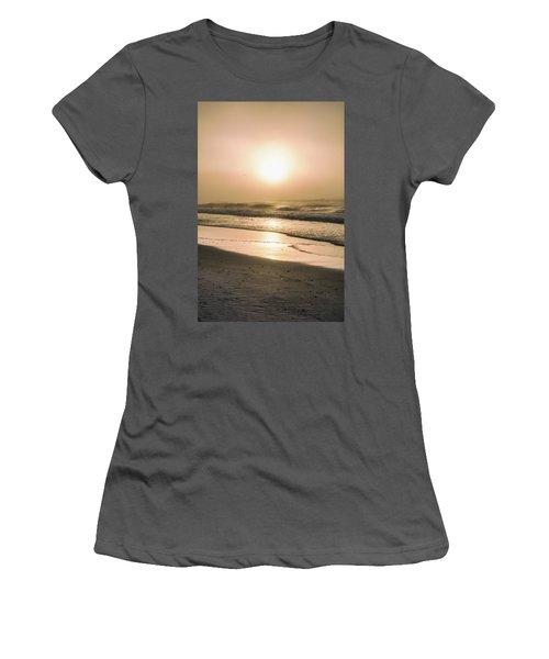 Women's T-Shirt (Junior Cut) featuring the photograph Sunrise In Orange Beach  by John McGraw