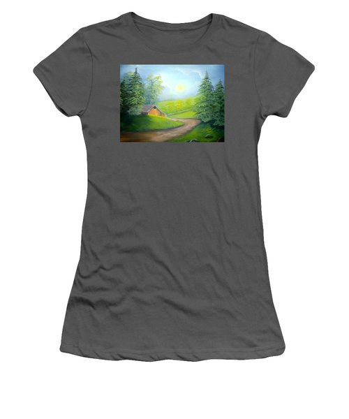 Sunrise In The Country Women's T-Shirt (Athletic Fit)