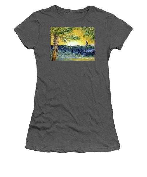 Sunrise Nose Ride Women's T-Shirt (Athletic Fit)