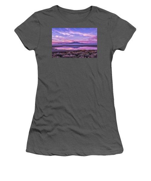 Sunrise On Antelope Island Women's T-Shirt (Junior Cut) by Kristal Kraft
