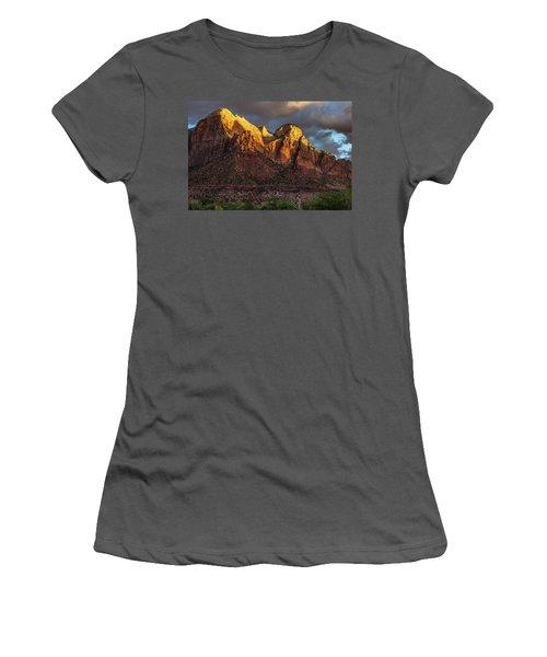 Sunrise On Zion National Park Women's T-Shirt (Athletic Fit)