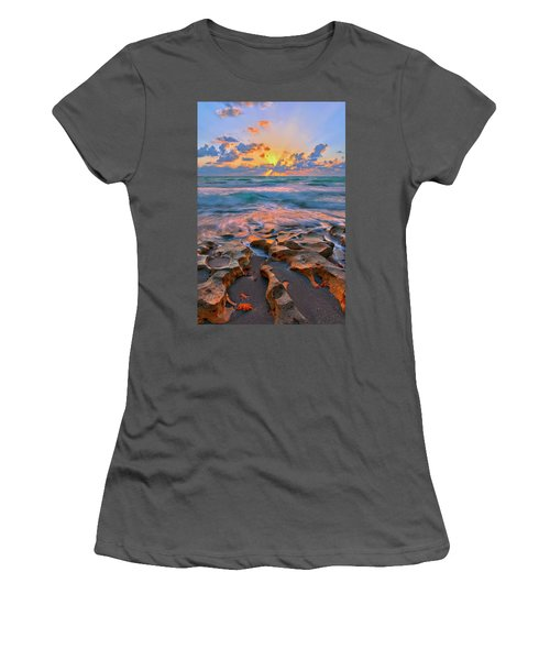 Sunrise Over Carlin Park In Jupiter Florida Women's T-Shirt (Athletic Fit)