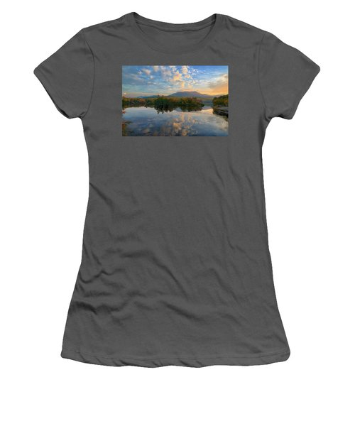 Sunrise Over Mt. Katahdin Women's T-Shirt (Athletic Fit)
