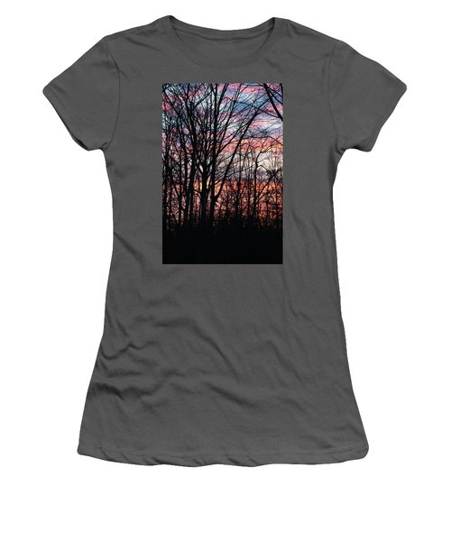 Sunrise Silhouette And Light Women's T-Shirt (Athletic Fit)