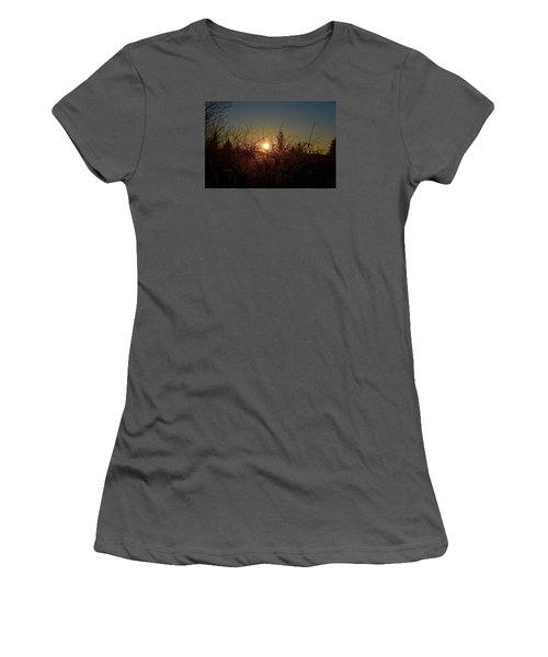 Sunrise Thru The Brush Women's T-Shirt (Athletic Fit)