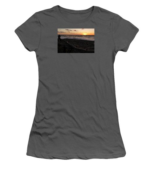 Sunset At Cap Rouge Women's T-Shirt (Athletic Fit)