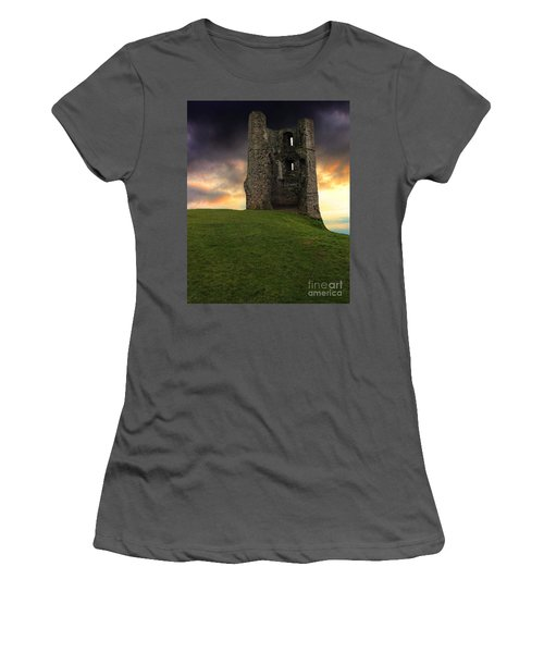 Sunset At Hadleigh Castle Women's T-Shirt (Athletic Fit)