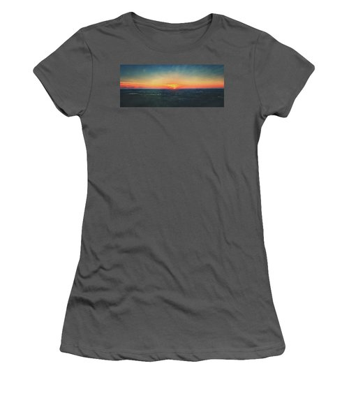 Sunset At Lapham Peak #3 - Wisconsin Women's T-Shirt (Junior Cut) by Jennifer Rondinelli Reilly - Fine Art Photography