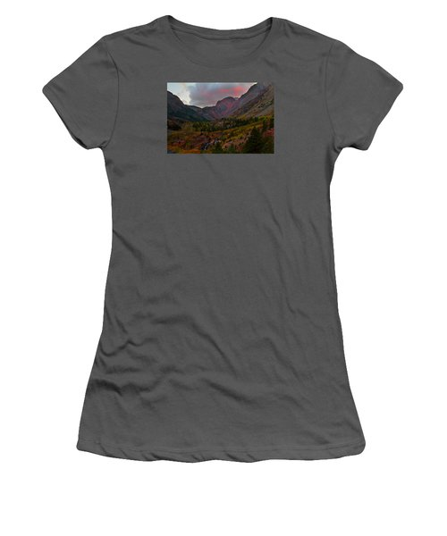 Sunset At Lundy Canyon During Autumn In The Eastern Sierras Women's T-Shirt (Junior Cut) by Jetson Nguyen