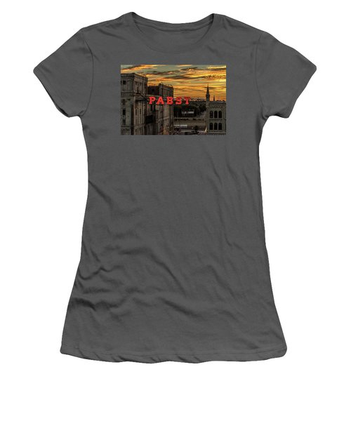 Sunset At The Brewery Women's T-Shirt (Athletic Fit)
