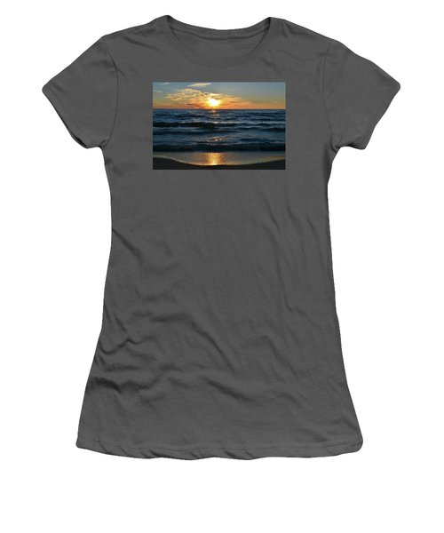 Sunset At Wasaga Beach June 21-2017  Women's T-Shirt (Athletic Fit)